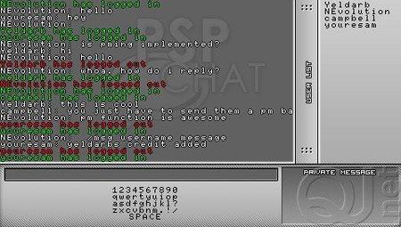 PSPChat: Nuevo cliente de chat para PSP