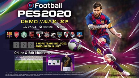 eFootball PES 2020 recibirá una demo a finales de julio y estos serán los equipos y modos de juego que incluirá