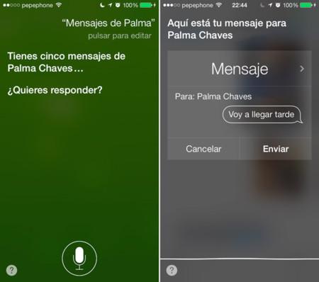 Mensajes en Siri para iOS 7