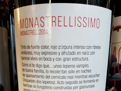 """La historia detrás de Monastrellissimo, el vino elaborado por """"leperos vampiro"""" que ha conquistado a Internet"""