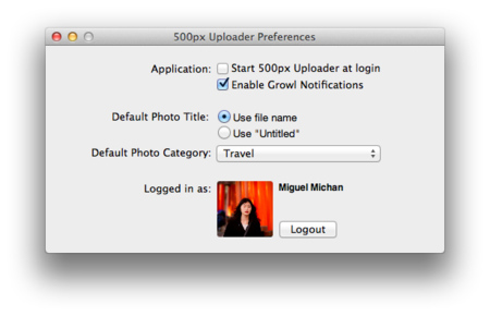 500px Uploader for Mac