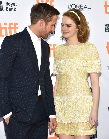 Ryan Gosling y Emma Stone, la pareja perfecta en la premiere de La La Land en Toronto