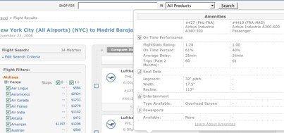 PriceGrabber ahora muestra información extra sobre vuelos