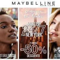 En Douglas tenemos 50% de descuento en la segunda unidad de maquillaje Maybelline NY