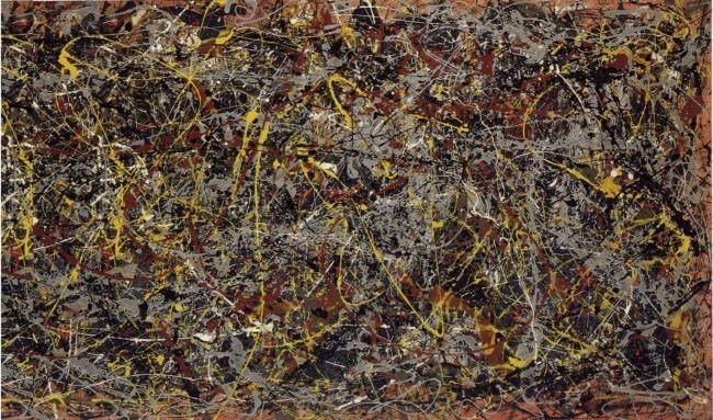 Falsificando el cuadro más caro del mundo (que, además, es un fractal)