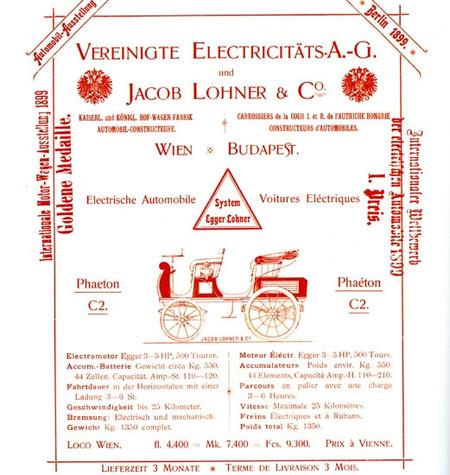 Cartel del P1 para una exhibición en Berlín en 1899