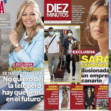 El nuevo novio de Sara Carbonero, Belén Esteban se hace empresaria y más sobre Julia Janeiro: Estas son las portadas de la semana del 21 de abril