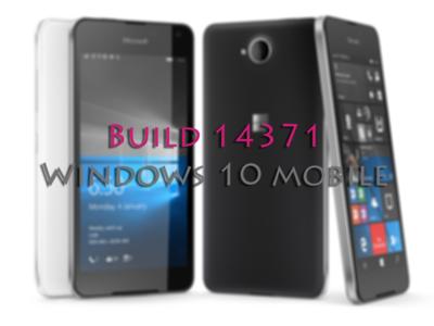 La Build 14371 ya está disponible para Windows 10 Mobile en el anillo rápido