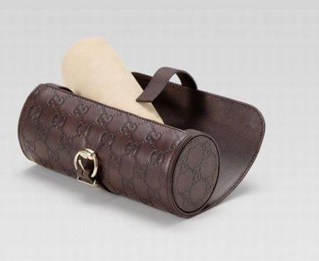 Caja de cuero de Gucci para relojes
