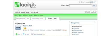 Laaik.it, marcador online con relevancia social mediante votaciones de enlaces