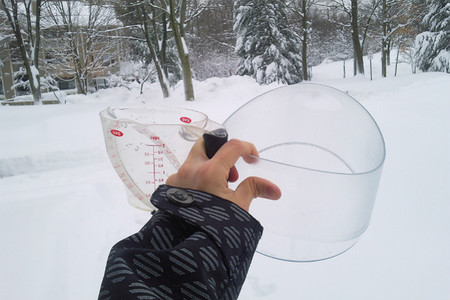 Helado de nieve fresca