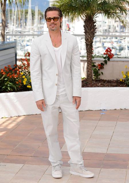 Brad Pitt Traje Blanco