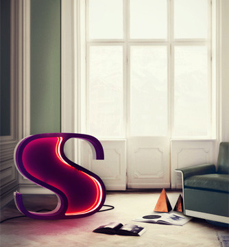 Letter Neon Graphic Lamp S