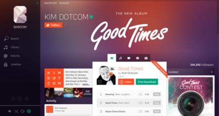 Baboom, así es el servicio de música en streaming de Kim Dotcom