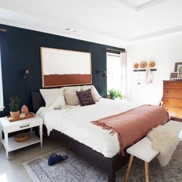 Antes y después: dormitorio nuevo con algo de pintura, complementos nuevos y un poco de maña