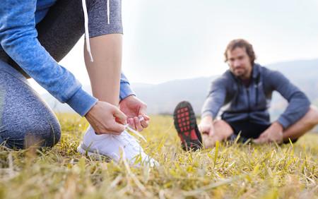 Entrenando para correr en pareja