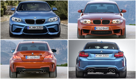 BMW M2 vs Serie 1 M Coupé: comparativa visual