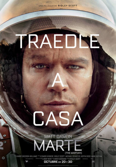 'Marte (The Martian)', carteles
