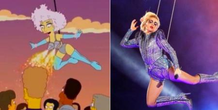 No, Los Simpson no predijeron la actuación de Lady Gaga anoche en la Super Bowl. Cazadores de Fakes
