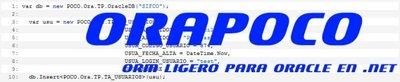 ORAPOCO, ORM ligero para Oracle en .NET, made in Spain