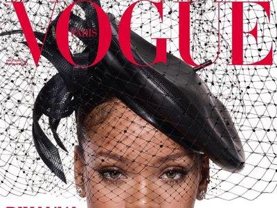 Estas Navidades vas a querer un maquillaje como el de Rihanna (en la portada de Vogue paris)