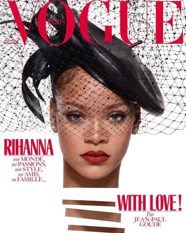 Rihanna Vogue Paris December 2017 January 2018 Cover2