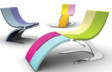 Hypnosis, tumbona y silla para exteriores pequeños