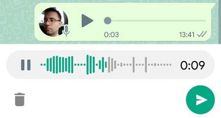 Escuchar notas de voz de WhatsApp antes de enviarlas