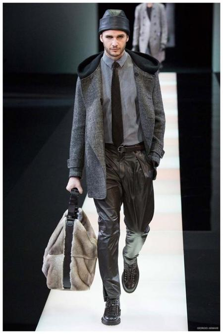 Giorgio Armani Menswear Fall Winter 2015 Collection Milan Fashion Week 017