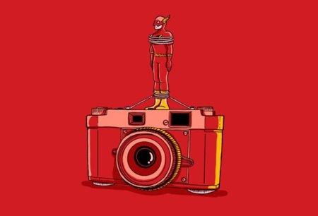 Camiseta Flash Camera