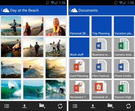 Microsoft SkyDrive para Android ya está preparada