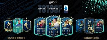 Guía FIFA 20: TOTSSF. Todas las cartas de la Serie A italiana del Equipo de la Temporada y los nuevos objetivos temáticos