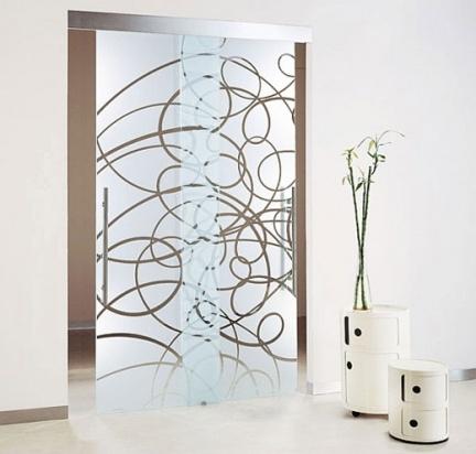 Puertas de cristal decoradas de Casali