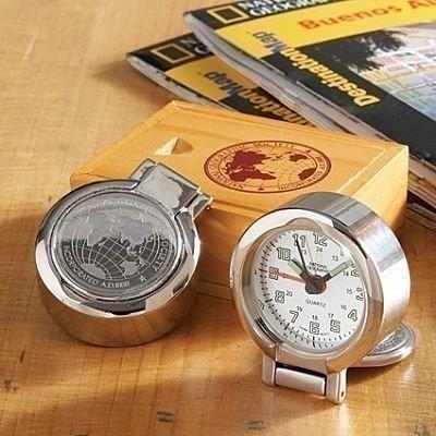 Reloj de viaje en miniatura