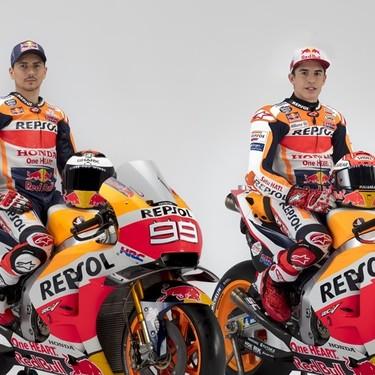 Los nuevos colores de Lorenzo y la ambición de Márquez en 14 fotos de la presentación del Repsol Honda