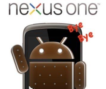 Nexus One no podrá ser actualizado a Android 4.0 Ice Cream Sandwich