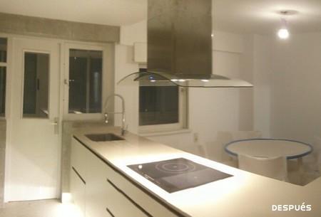 Antes y después: cuando tirar un tabique es necesario para ganar espacio y luz en la cocina