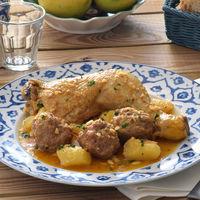 Guiso de pollo o pava con pelotas: receta murciana tradicional (como lo hacía mi abuela)