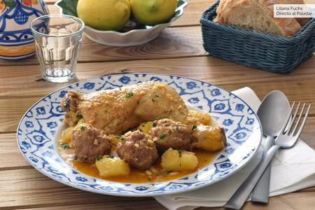 Guiso de pollo o pava con pelotas: receta murciana tradicional de Navidad (como lo hacía mi abuela)