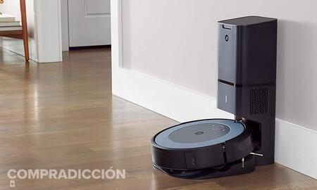 Olvidarse hasta de vaciar el robot aspirador sale más barato ahora en Amazon: Roomba i3552 a precio mínimo por 599 euros