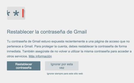 Password Alert Google