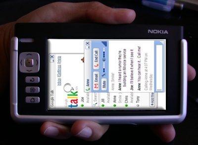 Nokia 770 con Google Talk