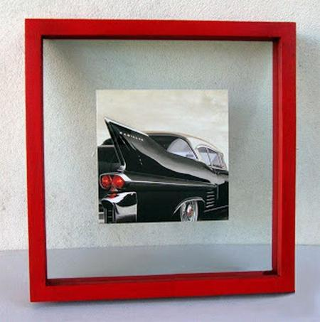 Marco Doble Cristal Cadillac Rojo