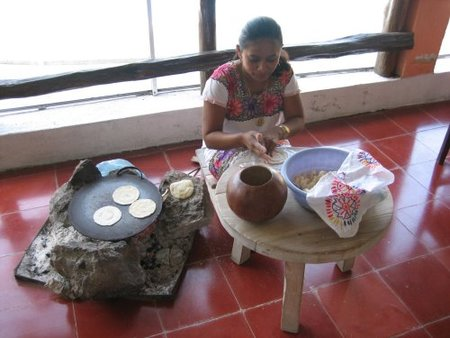 Tortitas de maíz mexicanas