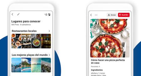 Pinterest Lite es una versión en miniatura con casi las mismas funciones y diseño que la app normal