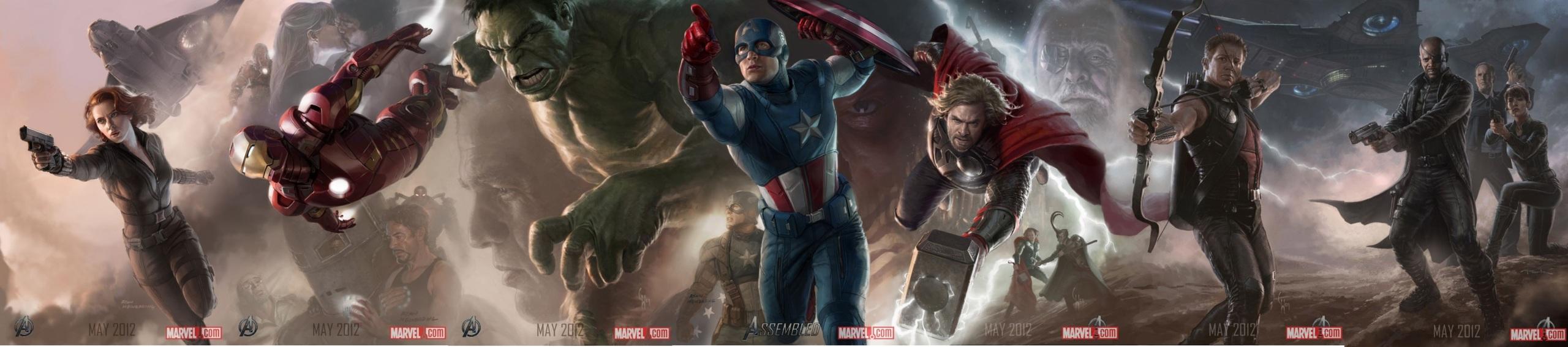 Foto de 'Los Vengadores' ('The Avengers'), teaser póster y dibujos oficiales de los protagonistas (2/9)