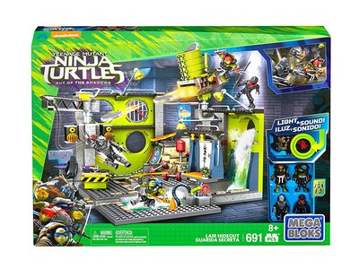 Guarida secreta Tortugas Ninja de Mega Bloks, con 691 piezas, por 22,72 euros