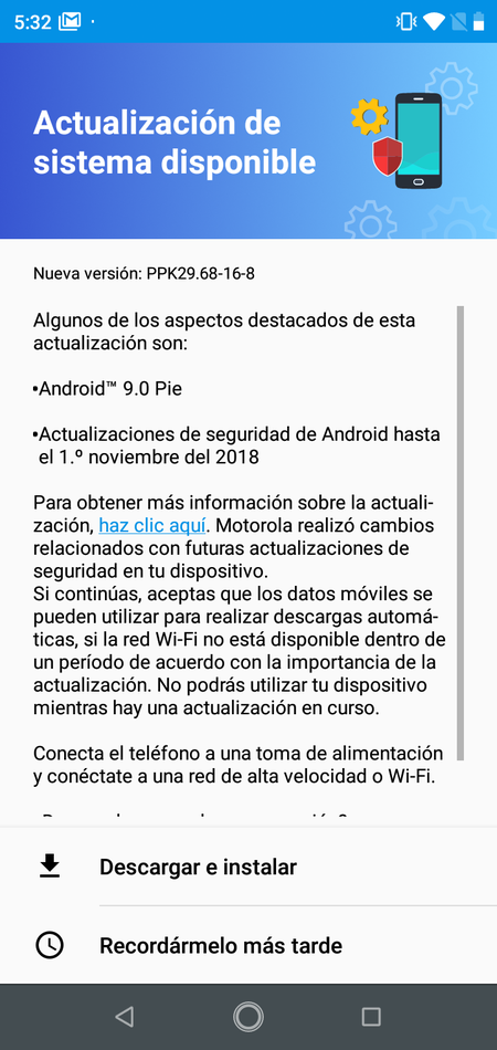 Motorola One Android Pie Mexico