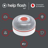 Vodafone venderá una baliza luminosa IoT para conectar los coches con la plataforma DGT 3.0