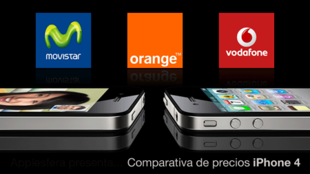 Comparativa de las tarifas del iPhone 4 con Movistar, Orange y Vodafone